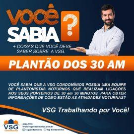 NOVIDADE! PLANTÃO NOTURNO DOS 30 AM