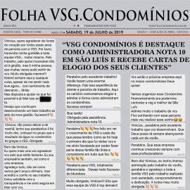 CONFIRA ALGUNS DEPOIMENTOS DE CLIENTES DA VSG CONDOMÍNIOS