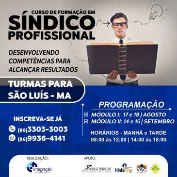 II CURSO DE SÍNDICO PROFISSIONAL NA CIDADE DE SÃO LUIS-MA
