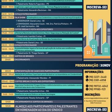 INSCRIÇÕES ABERTAS PARA O II CONGRESSO MARANHENSE DE SÍNDICOS E ADMINISTRADORES