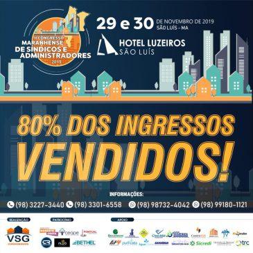 80% DOS INGRESSOS VENDIDOS!!!