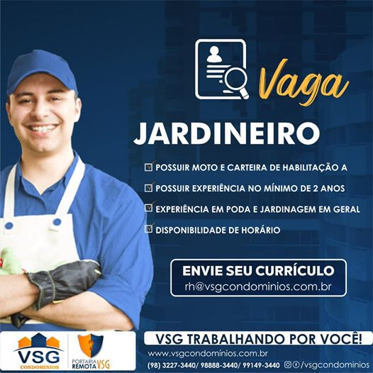 VSG CONTRATA: JARDINEIRO